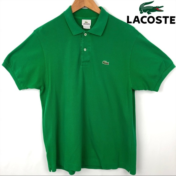 Lacoste Other - Mens Lacoste Green Short Sleeve Polo Large Size 5